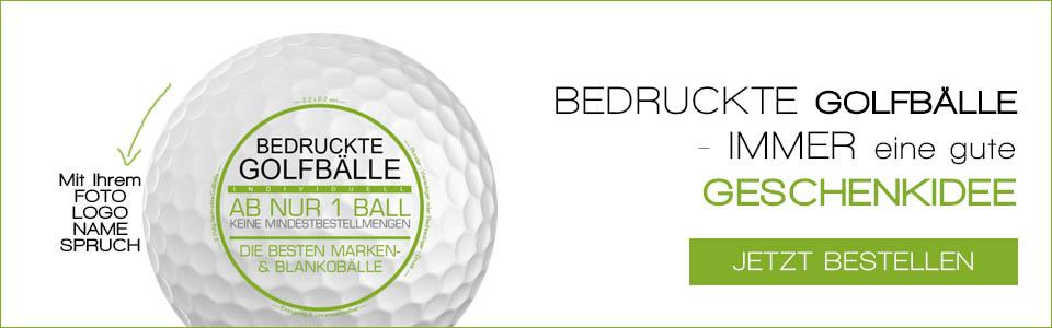 Bedruckte Golfbälle