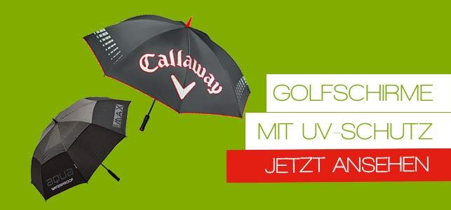 UV Schirme für die Golfsaison