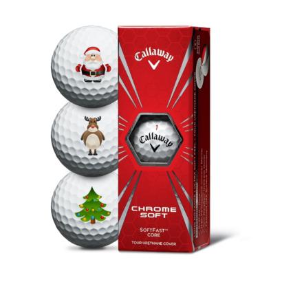 Callaway Chrome Soft Christmas Golfbälle - 3er Pack