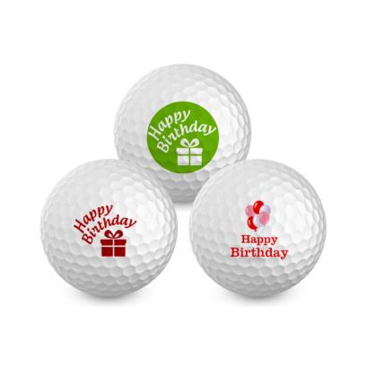 Happy Birthday Mix - Bedruckte Golfbälle - inkl. Geschenkverpackung für 3 Bälle