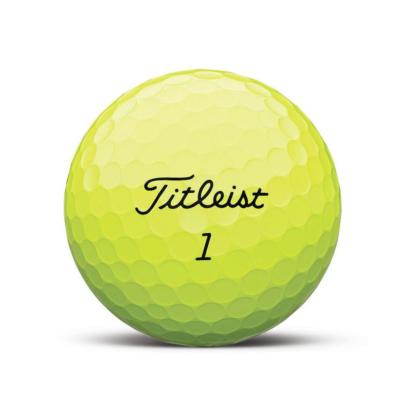 Titleist AVX Golfball Gelb - individuell bedruckt