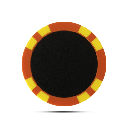 Vacant Pokerchip Ballmarker Individuell Bedruckt Orange