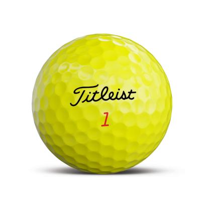 Titleist TruFeel Golfball Gelb - Individuell Bedruckt
