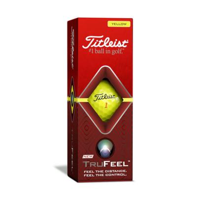 Titleist TruFeel Golfball Gelb - 3er Pack