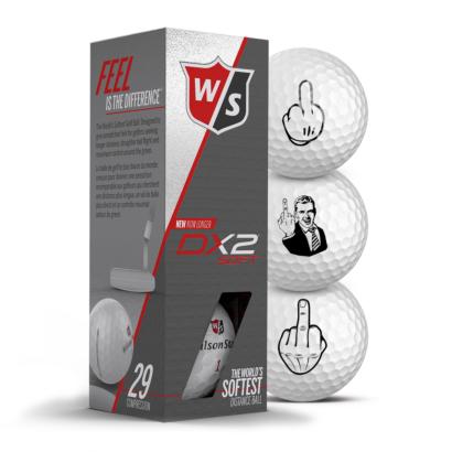 Wilson Duo Soft+ Golfbälle 3er Pack Motiv F-You Mittelfinger
