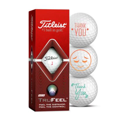 Titleist TruFeel  Golfbälle 3er Pack Motiv Thank You