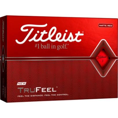 Titleist TruFeel Golfball Rot - 12er Pack