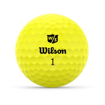 Wilson Staff Duo Optix Gelb - Individuell Bedruckt