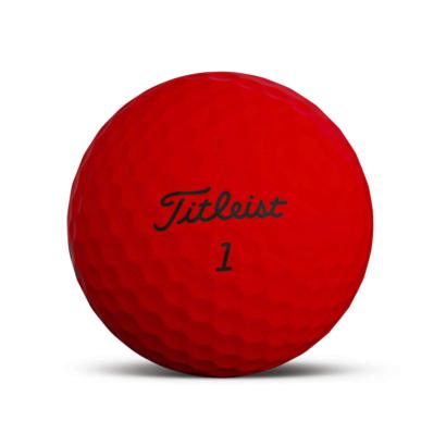 Titleist TruFeel Golfball Rot - Individuell Bedruckt