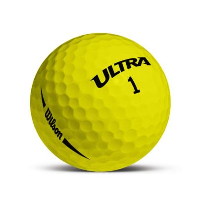 Wilson ULTRA Distance Golfball Gelb - Individuell Bedruckt