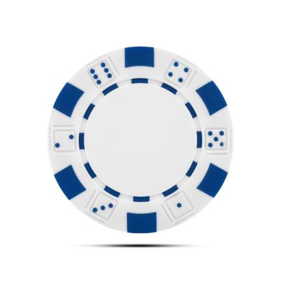 Pokerchip Dice Ballmarker Individuell Bedruckt Weiss