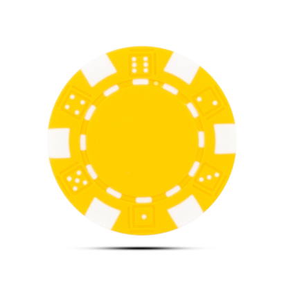 Pokerchip Dice Ballmarker Individuell Bedruckt Gelb