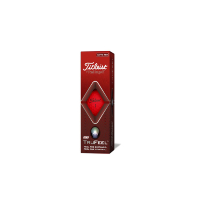 Titleist TruFeel Golfball Rot - 3er Pack