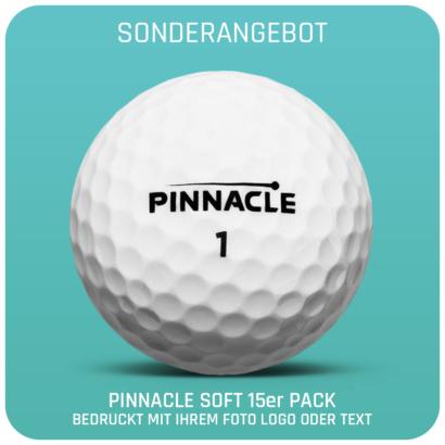 Pinnacle SOFT Golfbälle 15er Pack - individuell bedruckt