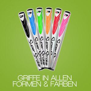 Golfschlägergriffe in allen Farben und Formen